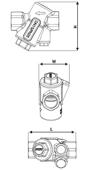 Frese Alpha DN40 Dinamik Balans Vanası. ürün görseli