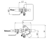 Frese DN15 H Ayarlanabilir Fark Basınç Vanası. ürün görseli