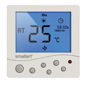 Smallart SM2008 TRL Dijital Fancoil Termostatı (Uz.Kum. +Haft. Prog). ürün görseli